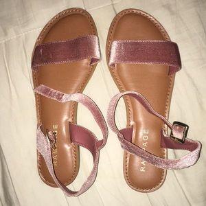 Muave velvet sandals